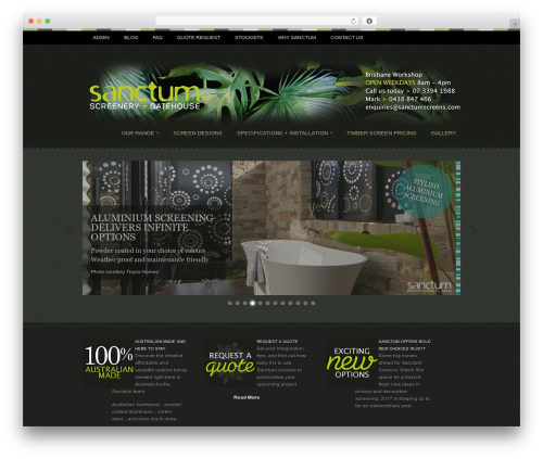 Swatch WordPress theme - sanctumscreens.com
