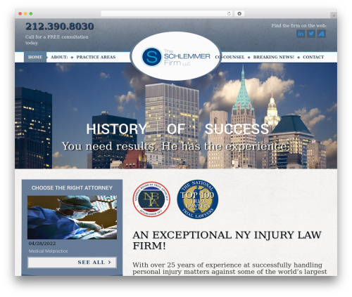 The Law business WordPress theme - schlemmerfirm.com