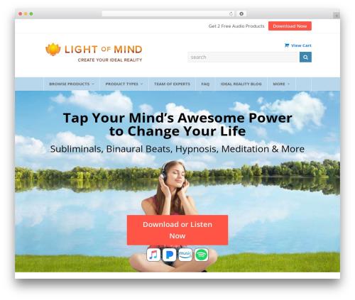 Total WordPress theme download - lightofmind.com