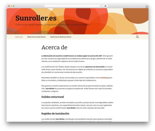 Twenty Thirteen free WordPress theme - sunroller.es
