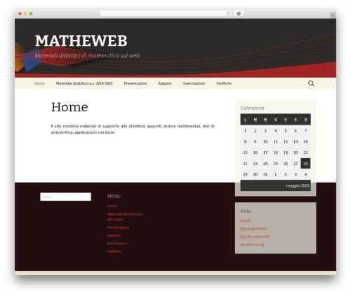 Twenty Thirteen premium WordPress theme - lnx.matheweb.it