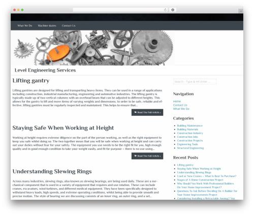 WordPress theme Almasi - levelengineeringservices.net