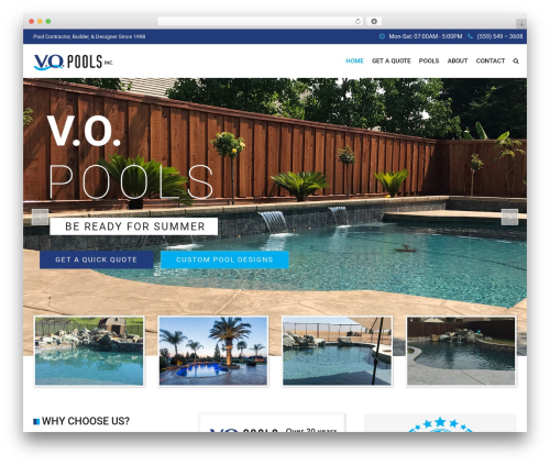 Best WordPress template SwimmingPool - vopools.com