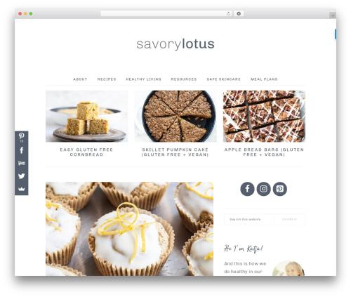 Best WordPress theme Brunch Pro Theme - savorylotus.com