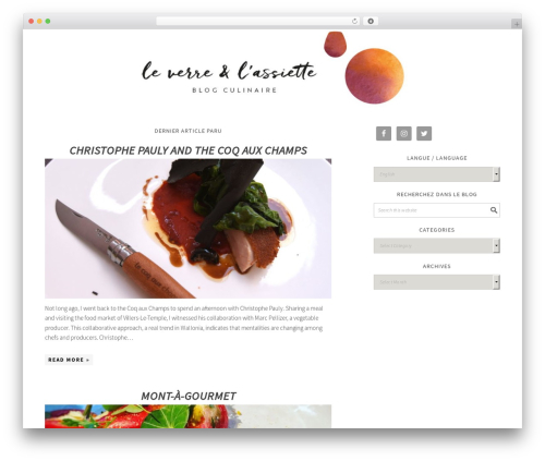 Foodie Pro Theme WordPress blog template - leverrelassiette.be