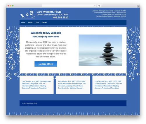 Responsive WordPress theme download - larawindett.com