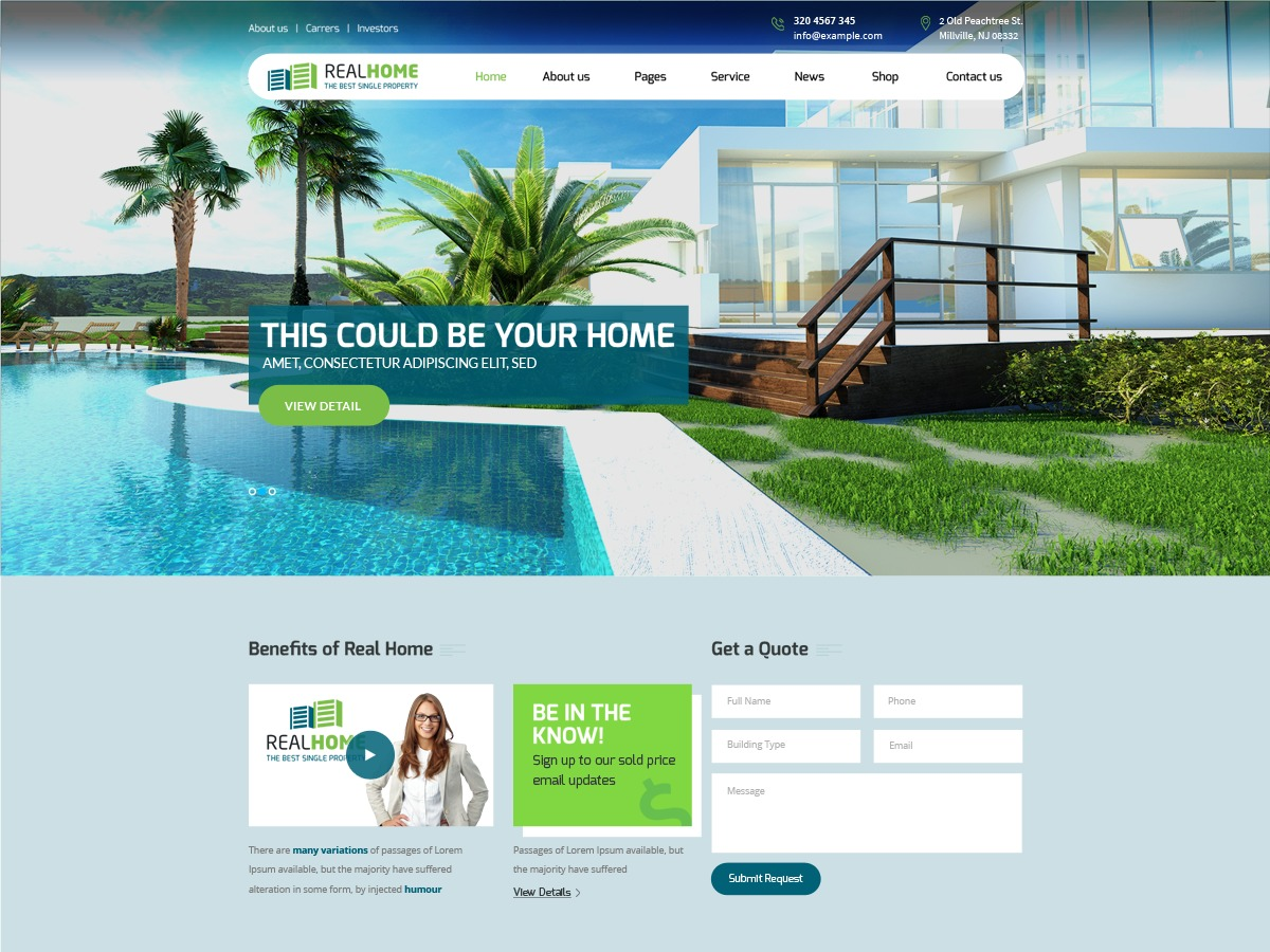 Single Property WP theme