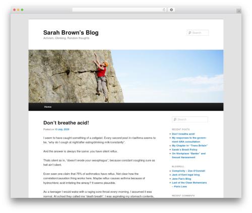 Twenty Eleven template WordPress free - sarahlizzy.com/blog