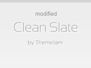 WordPress Theme Clean Slate Modified