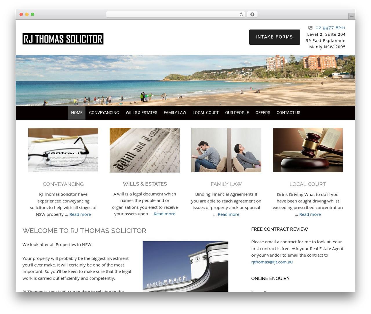 WordPress theme Minimum Pro Child 001 - solicitorsmanly.com