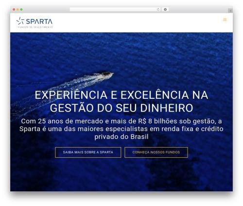 WordPress website template Avada - sparta.com.br