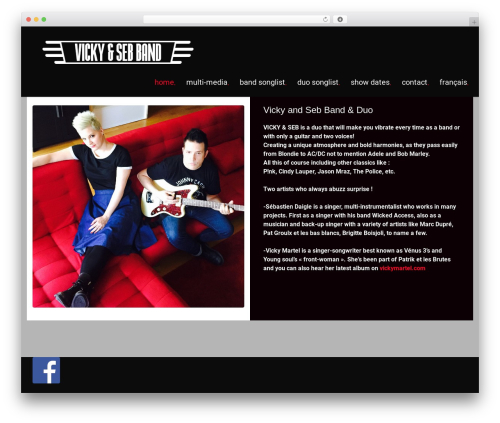 WordPress website template MUZIQ Jellythemes - vickyandseb.info