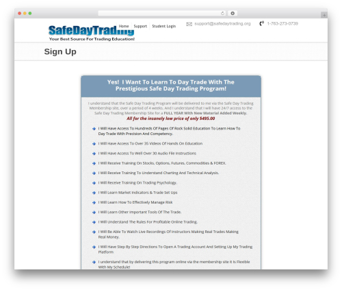 Best WordPress template Hyperion - safedaytrading.org/members/sign-up