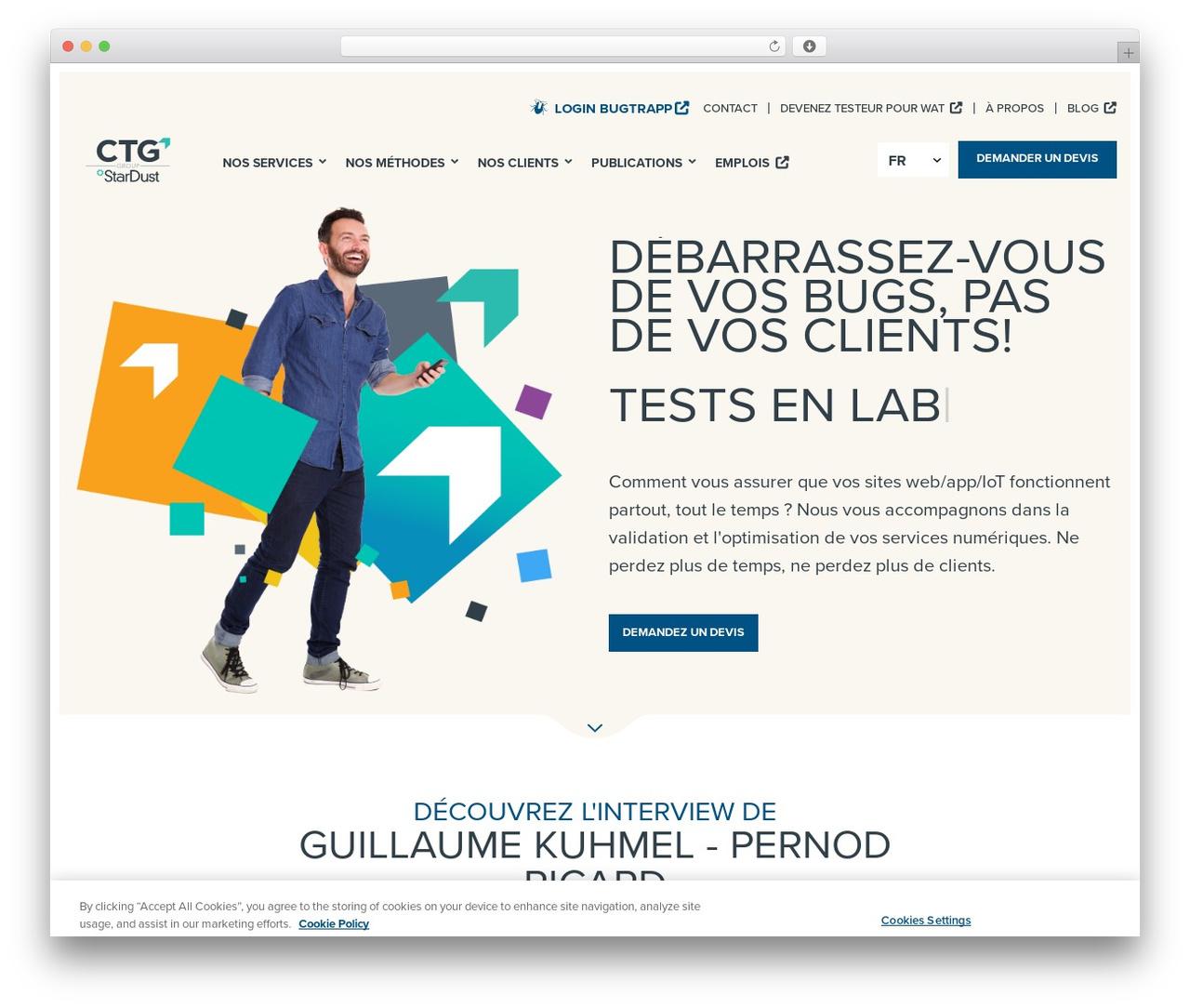 Best WordPress template StarDust - stardust-testing.com