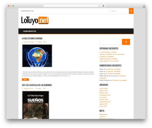 Koenda WordPress template - lotuyo.net