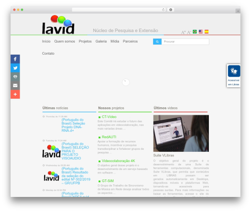WordPress gallery-video plugin - lavid.ufpb.br