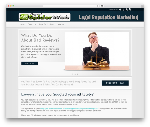 Modular business WordPress theme - legalreputationmarketing.com