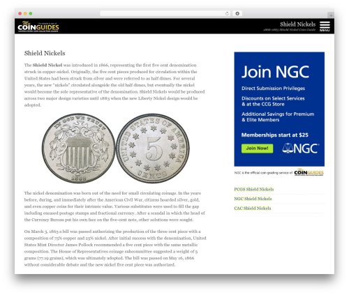 Template WordPress Mobile First Adaptation - shieldnickels.us
