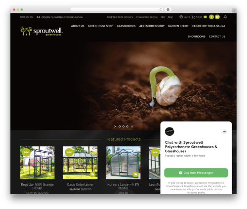 The7 top WordPress theme - sproutwellgreenhouses.com.au