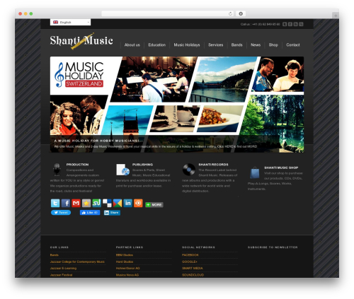 WordPress website template Corona - shanti-music.com