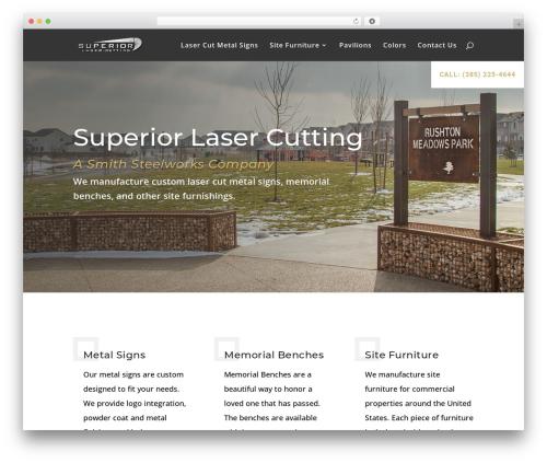 WP template Divi - superiorlasercutting.com