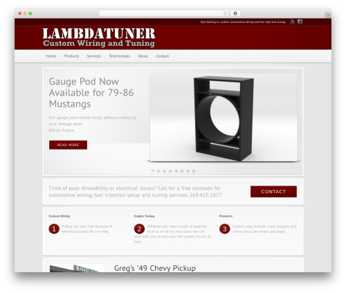 Modular motors WordPress theme - lambdatuner.com