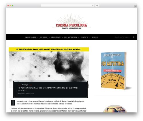 Maple WordPress template - samuelecorona.com