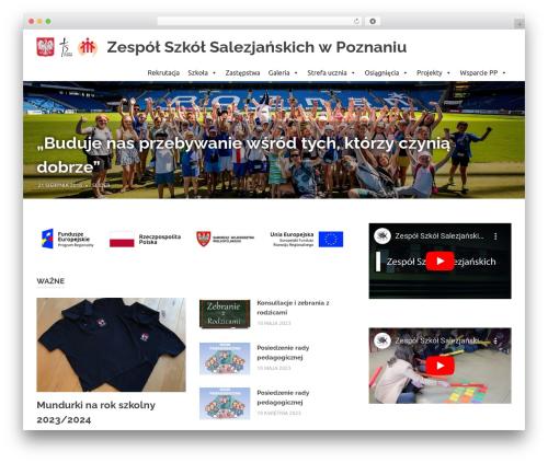 Poseidon template WordPress free - szkola-poznan.salezjanie.pl