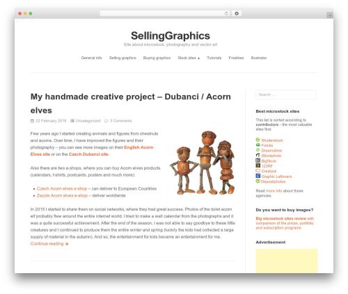 Puro Premium photography WordPress theme - sellinggraphics.com