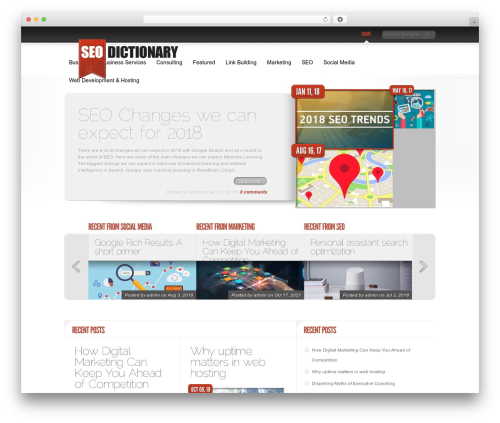 Template WordPress Delicate News - seo-dictionary.com