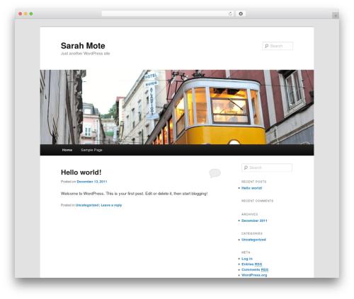 Twenty Eleven free website theme - sarahmote.com