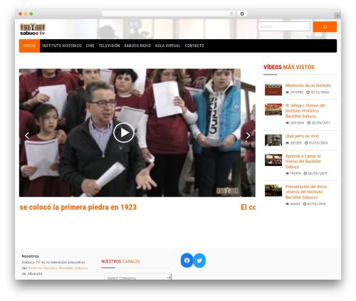 Video WordPress movie theme - sabucotv.com