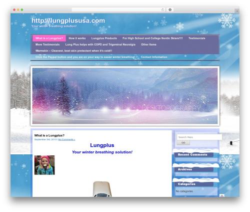 WordPress theme Winter - lungplususa.com