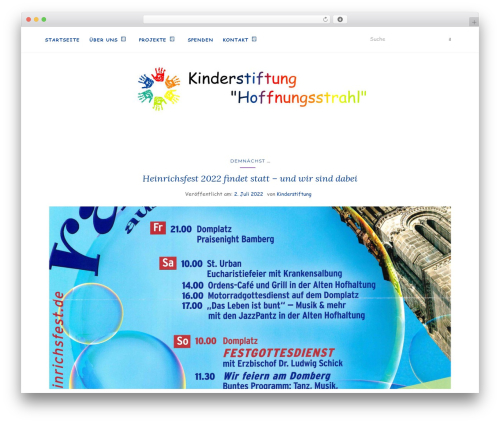WP theme Activello - kinderstiftung-hoffnungsstrahl.org