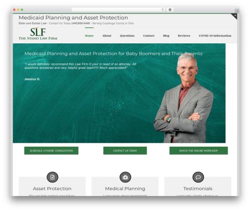 Avada business WordPress theme - stanolaw.com