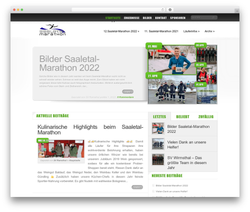 Delicate News WordPress theme - saaletal-marathon.de