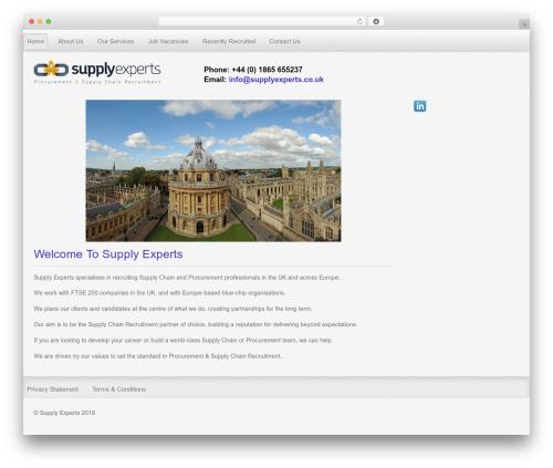 Gantry Theme for WordPress WordPress page template - supplyexperts.co.uk