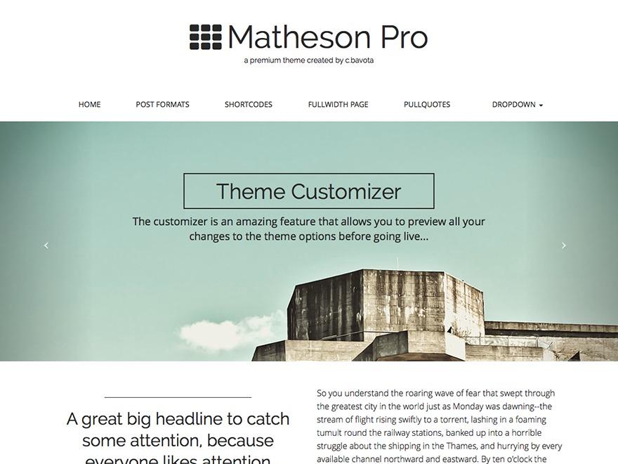 Matheson WordPress photo theme