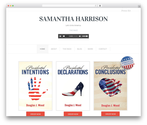 Senator WordPress theme - samanthaharrison2016.com