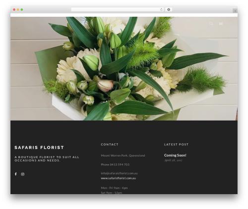 Theme WordPress WP Nito - safarisflorist.com.au