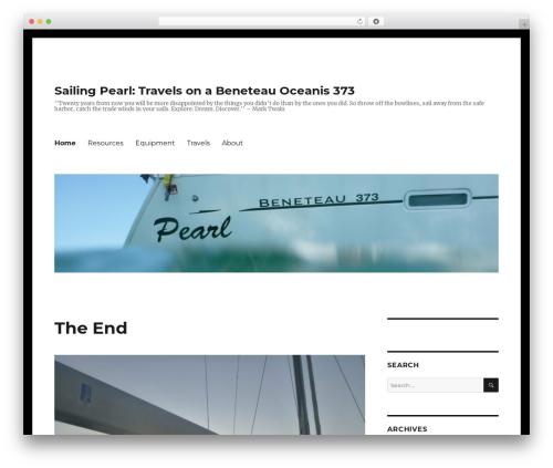 Twenty Sixteen template WordPress free - sailingpearl.com