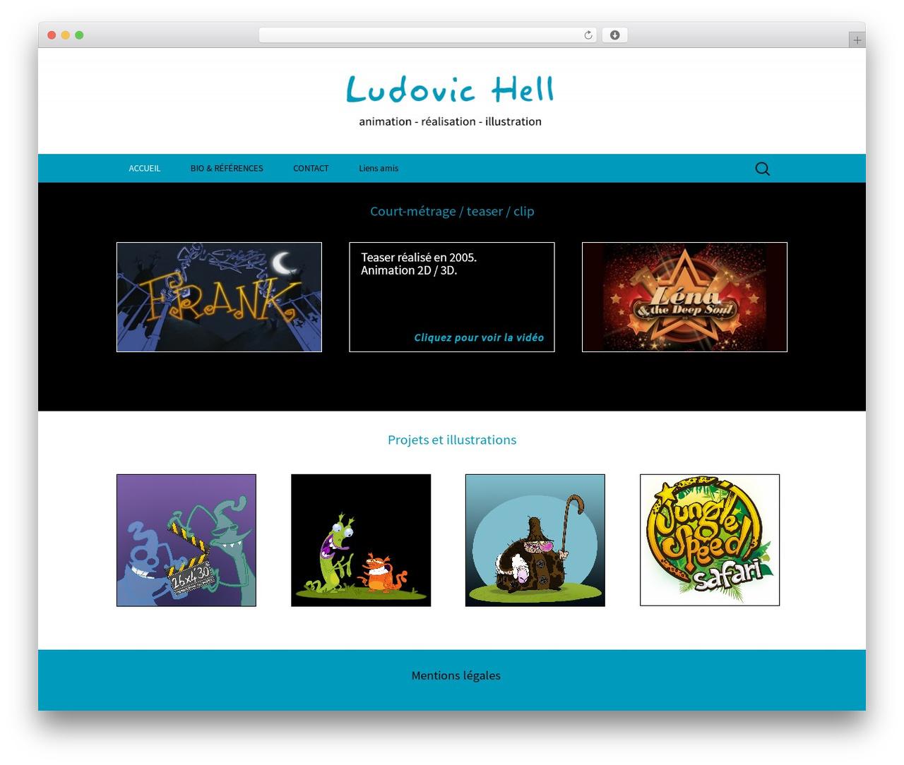 Twenty Thirteen free WordPress theme - ludovic-hell.com