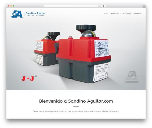 Versatile WordPress theme - sandinoaguilar.com