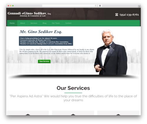 Attorney theme WordPress - sedikovattorney.com