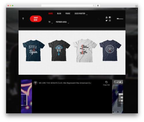 Betheme best WordPress video theme - senatedjs.com