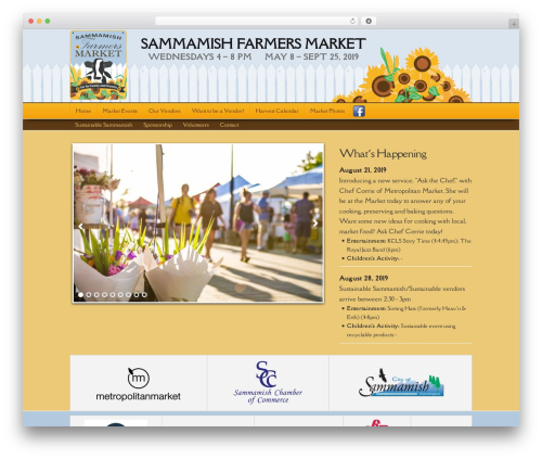 Builder WordPress theme - sammamishfarmersmarket.com