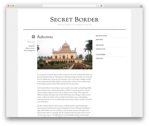 Elemin top WordPress theme - secretborder.com