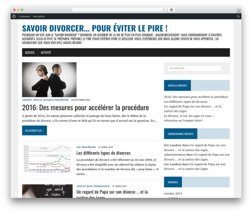 MH Newsdesk lite template WordPress free - savoirdivorcer.fr