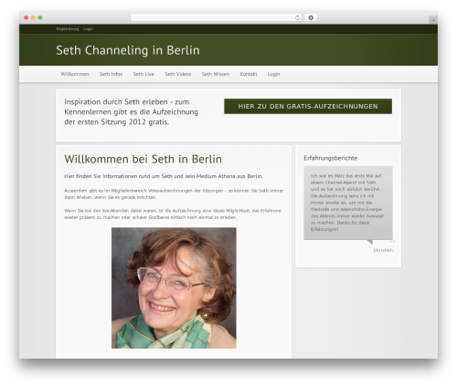 Modular premium WordPress theme - seth-channeling.com