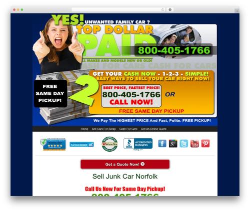 WordPress theme Kelly Car Buyer 1.0 - selljunkcarnorfolk.com